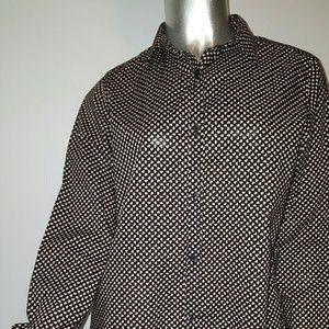 ORLA KIELY  Button Down Shamrock Shirt Sz L -EUC