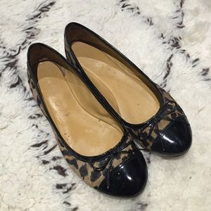Nine West Leopard Ballet Flats 8.5