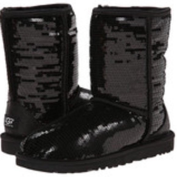 48 ugg shoes black sparkle ugg boots from