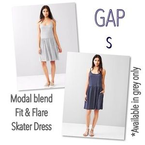 ⤵️GAP grey  pleated skater dress S