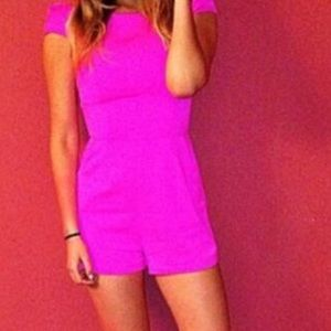 LF stores bright pink romper