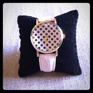 Geneva Accessories - ⚫️Black n' White Polka Dot Watch⚫️