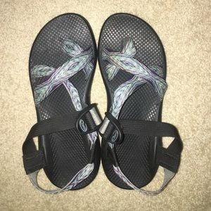 Chacos river print sandals