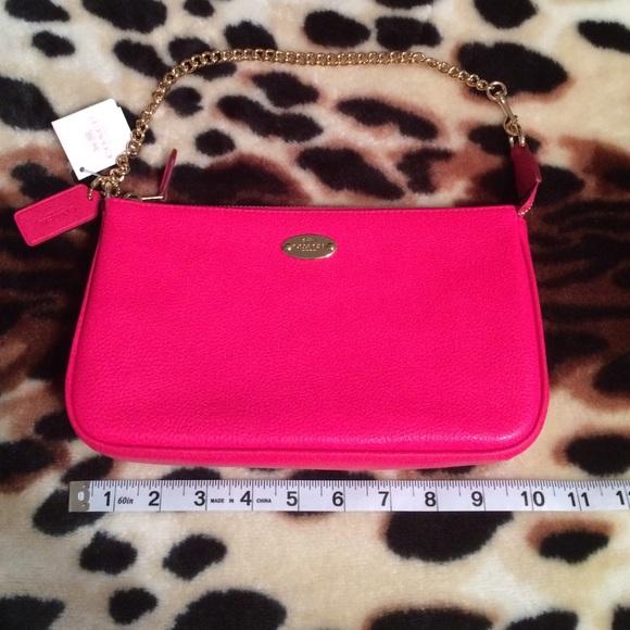 5adb95f6e2d Coach Bags | Hot Pink Purse With Gold Chain Strap | Poshmark