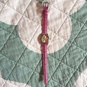 Accessories - Pink Leather Watch