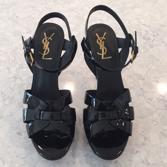 8886d6dce0d Yves Saint Laurent Shoes | Ysl Black Patent Leather Tribute 75 ...