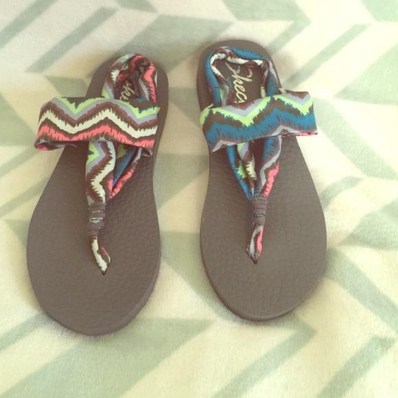 skechers yoga mat sandals. size 6 skechers yoga mat sandals s