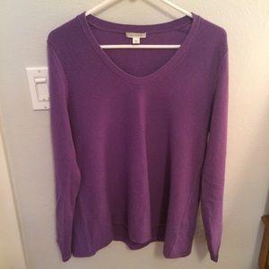 Garnet Hill Sweaters - Garnet Hill Purple Cashmere Sweater
