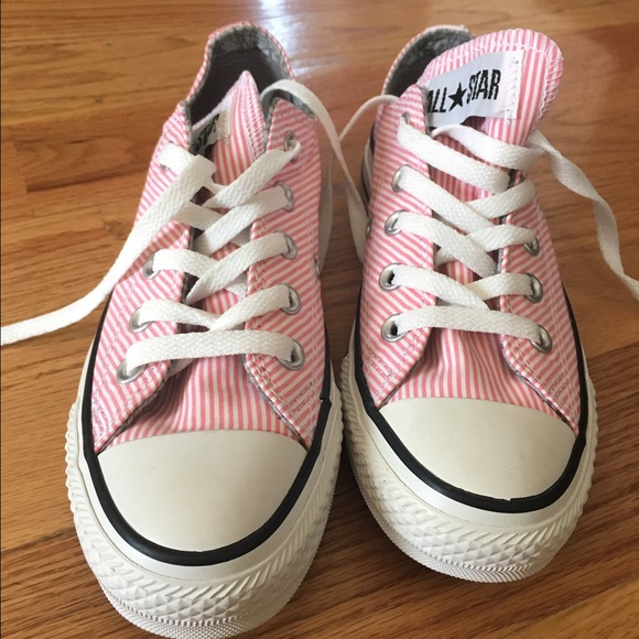 converse shoes new cute low cut pink striped poshmark