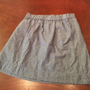 Medium Aline chambray look skirt