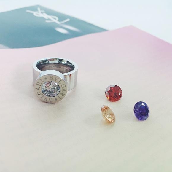 ec026bc47d612 Bvlgari Silver Ring with CZ stones Bulgari Boutique
