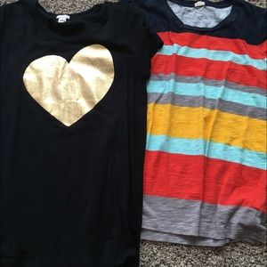 Two short sleeve Jcrew factory tees