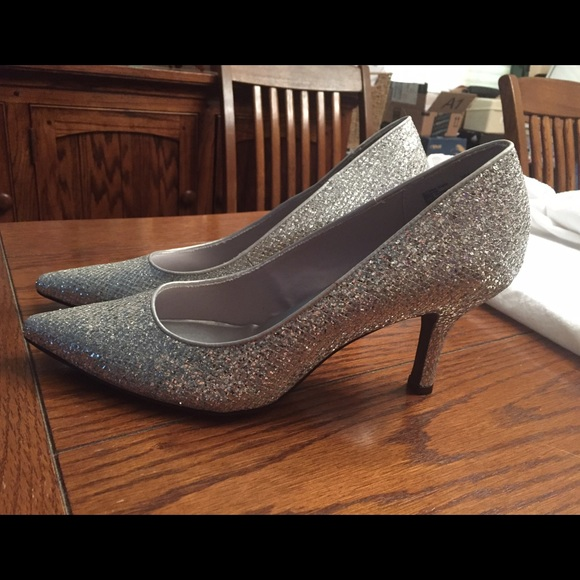 33d8899c467b Shoes | Final Price Size 11 Sparkly Silver Heels | Poshmark
