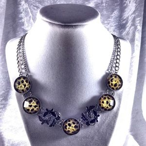 Boutique Jewelry - Leopard & Butterfly Statement Necklace