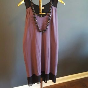 Tops - Racerback layered tunic/dress