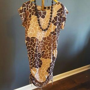 Dresses & Skirts - Animal print cotton dress