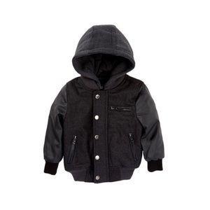 Urban Republic Other - Urban Republic Hooded Varsity Jacket (Baby Boys)