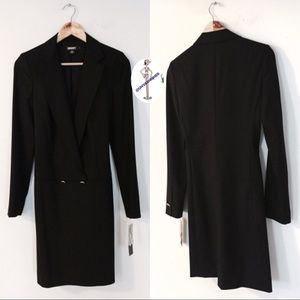 DKNY Faux Double Breasted Coat Dress
