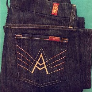 7 For All Mankind bejeweled designer jeans