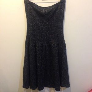 Free People Gunpowder Metallic Strapless Dress