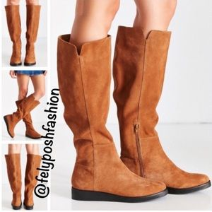 Urban Outfitters High Wedge Brown Suede Boot