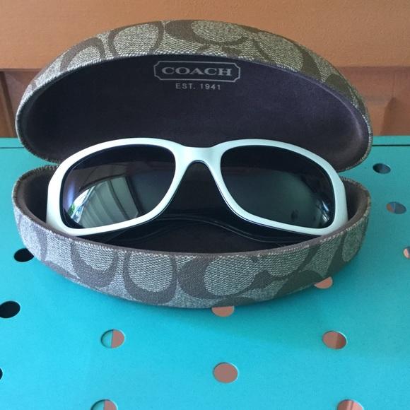 Coach Accessories - White Coach Sunglasses & Case 😎