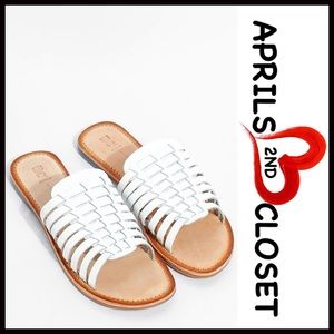 BC Footwear Shoes - LEATHER Flats SANDALS Huarache