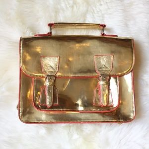 Steve Madden Handbags - Steve Madden Metallic Gold Bachel Cross Body Bag
