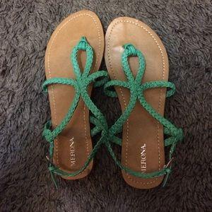 Teal Sandals !! Target brand ( merona )