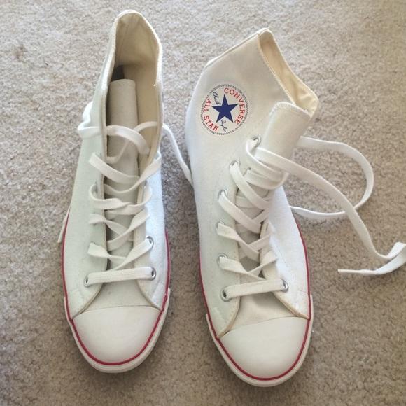 0725a43542e8 Converse Shoes - White Hi-top Converse Slim Sole