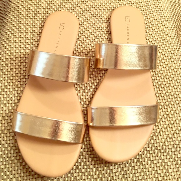 48f8a7e09a4d LC Lauren Conrad Shoes - LC Lauren Conrad Glossy Slide Sandals • 8 • NWOT