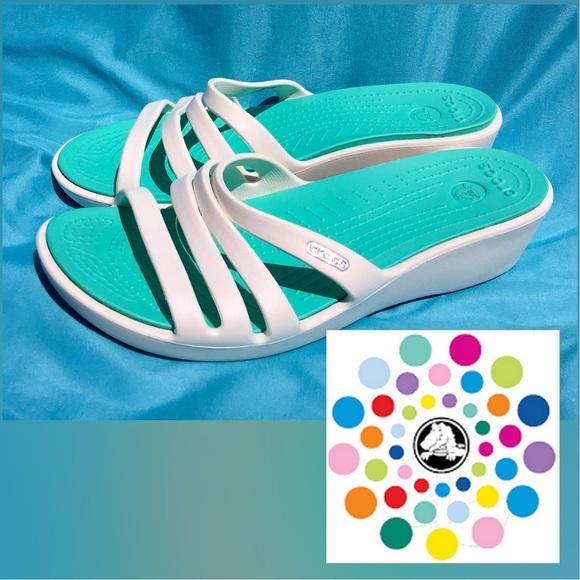 """35f96cc6c56 crocs Shoes - 🙌reserve🙌CROCS """"Rhonda"""" Oyster White   Island"""
