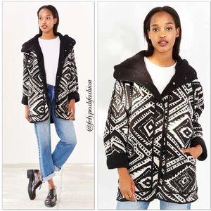 Without Walls Black Reversible Shearling Jacket