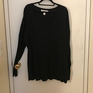 Pure Energy Tops - Plus size black sweater