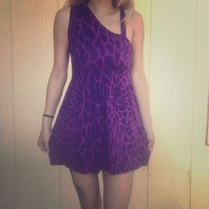 Twelve by Twelve  Dresses & Skirts - Purple One Shoulder Mini Dress