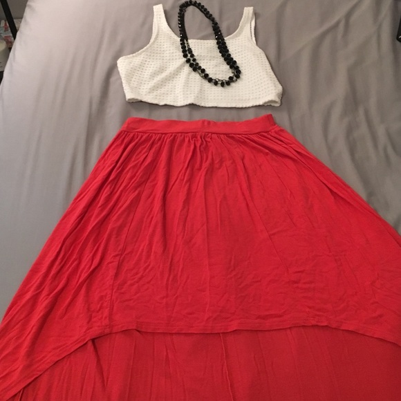 60 dresses skirts coral high low skirt from