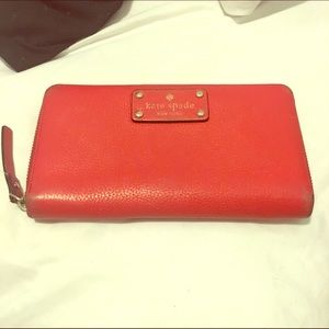 Kate Spade Zip Wallet in Red
