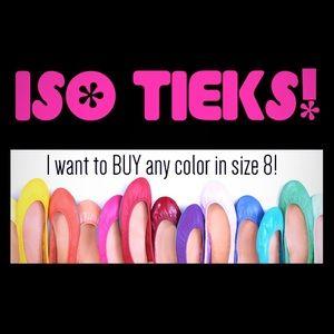 ISO Tieks! (Want to BUY!)