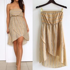 Moon Collection Dresses & Skirts - Moon Collection Striped Strapless Dress