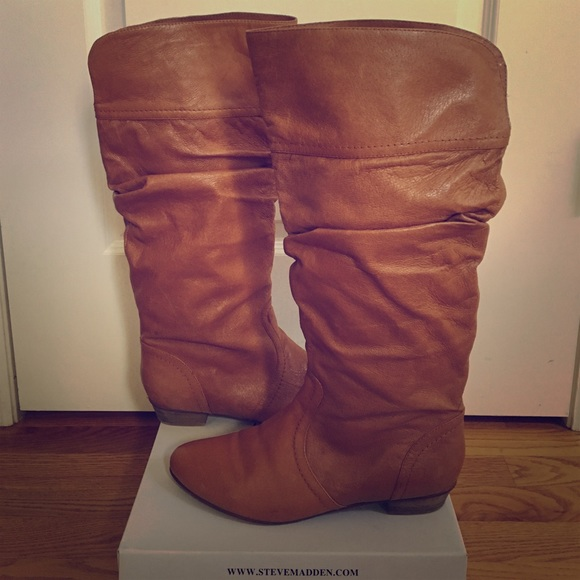 cb0b2c960a0 Steve Madden Candence Cognac Leather Boots. M 577d864e98182978160be581