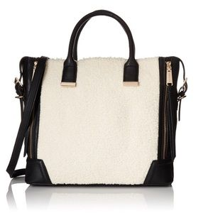 Steve Madden Handbags - Steve Madden Bfrisky Shearling Top Handle Bag