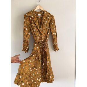 1960's McMullen silk printed button summer dress 6