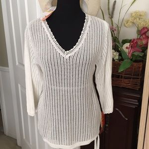 Cynthia Steffe Other - Cynthia Steffe  white cotton cover-up or top