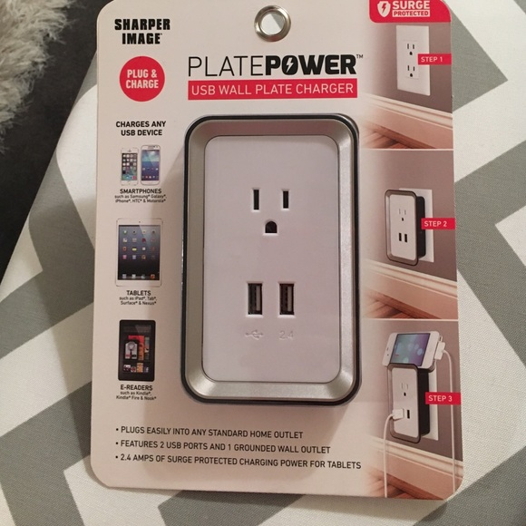 Other Plate Power Usb Wall Plate Charger Poshmark