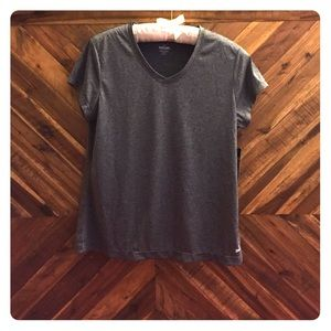 Spalding Tops - NWT Gray v-neck workout tee!