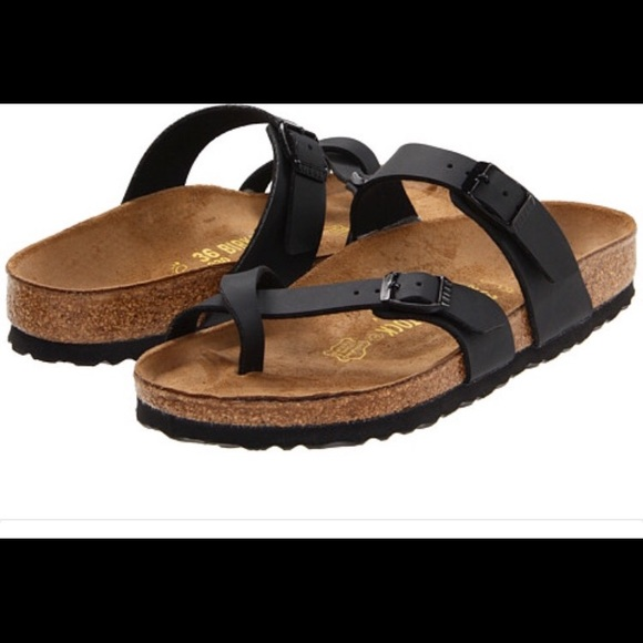 bd5ebf54c66 Birkenstock MAYARI black oiled leather sandals