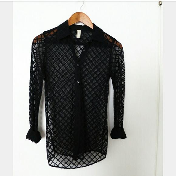 76 off american apparel tops american apparel sheer for American apparel mesh shirt