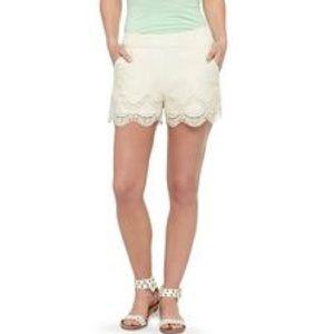 Xhilaration beige lace shorts.