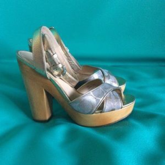 65 coach shoes coach platform heel from kelli s
