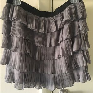 Urban Outfitters grey tiered mini skirt